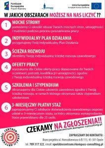 """Projekt """"Opolskie Centrum Edukacji Aktywności i Nowych Perspektyw Zawodowych dla osób pozostających bez pracy, w wieku powyżej 39 roku życia z województwa opolskiego"""""""