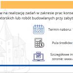 900 tysięcy złotych na renowację zabytków