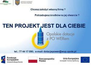 Trwa nabór do projektu pn. Opolskie dotacje z PO WERem