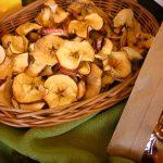 Jabłka suszone z pieca na liście