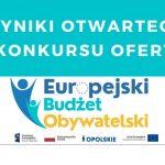 Europejski Budżet Obywatelski – rozstrzygnięcie pierwszego konkursu