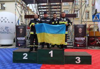 Strażacy z Ukrainy na zawodach w Opolu